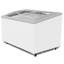 Excellence Industries EAC-47HC Curved Lid Display Freezer - 5 Basket