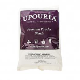 Gold Medal 1421 Chocolate Upouria Soft Serve Mix 1.5lb Bags 7/CS