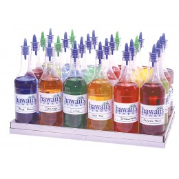 Gold Medal 2724 Shave Ice Flavor Bottle Rack