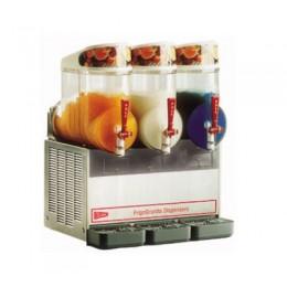 Cecilware NHT3UL Granita Frozen Dispenser 3 Bowl Stainless Steel 120V