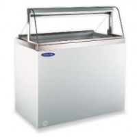 Norlake HF040WWG/0C Curved Glass Dipping Display Freezers 26-1/2