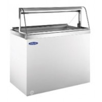 Norlake HF100WWG/0C Curved Glass Dipping Display Freezers 47-3/4