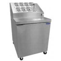 Norlake ZF071SMS/0 Ice Cream Topping Freezer Dual Rail 27-1/2